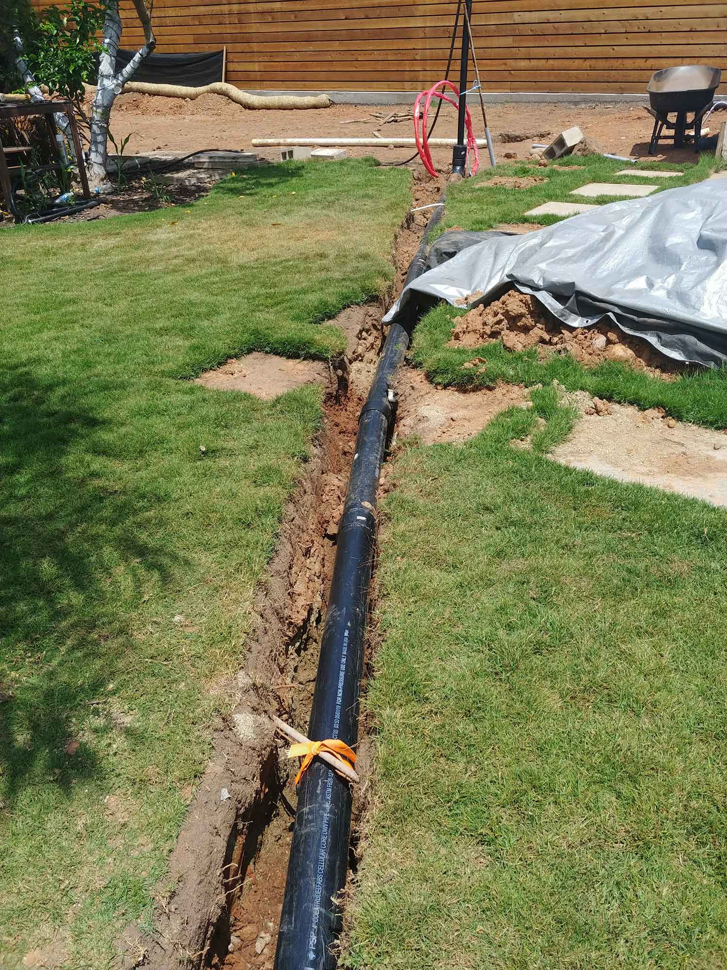 sewer line to end point